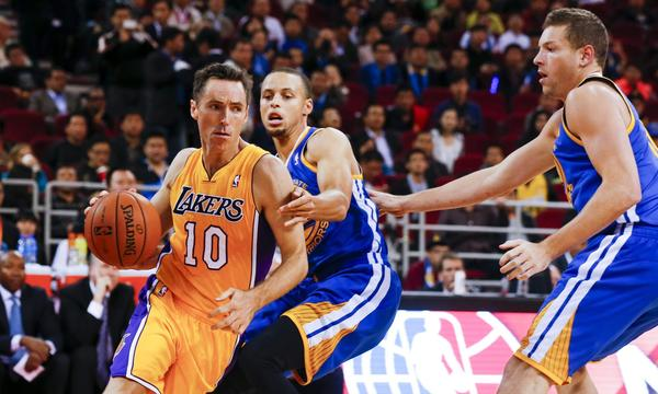 Lakers guard Steve Nash could miss a game because of injury.