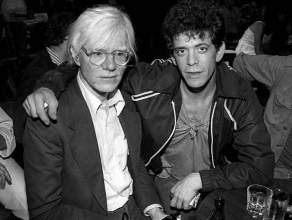 Andy Warhol, left, and Lou Reed