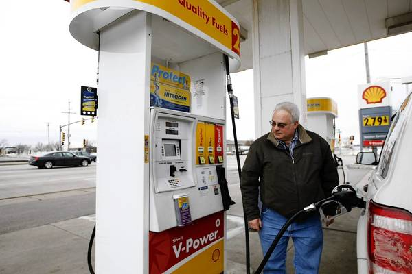Artie Banks fills up on gasoline at Touhy & Wolf Shell Inc., Tuesday, March 2, 2010 in Des Plaines. City officials agreed to extend the gas tax inrease and a sewer fee increase through 2014.