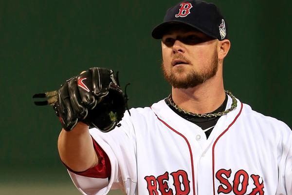 Red Sox starter Jon Lester during Game 1.