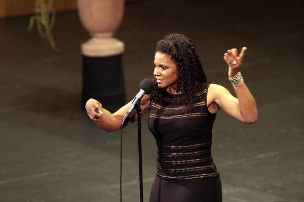 Audra McDonald performs at the Dorothy Chandler Pavilion at the Los Angeles County Music Center.