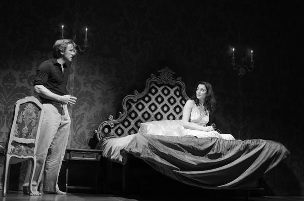 "Daniel Craig, left, as Robert, and Rachel Weisz as Emma, in Harold Pinter's ""Betrayal, "" directed by Mike Nichols, at the Barrymore Theatre in New York."