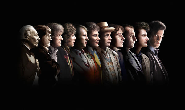 The First-Eleventh Doctor Whos (from left): William Hartnell, Patrick Troughton, Jon Pertwee, Tom Baker, Peter Davison, Colin Baker, Sylvester McCoy, Paul McGann, Christopher Eccleston, David Tennant and Matt Smith.
