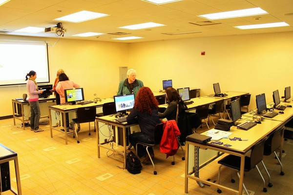 The new digital media lab at the 95th Street library will occupy a computer lab classroom now in place.