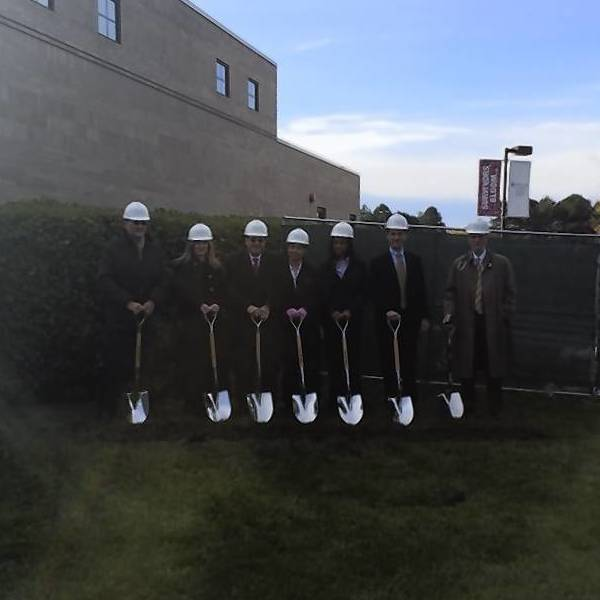 Libertyville city officials, Advocate Condell Medical Center staff members and governing leaders all participate in a ceremonial shovel ceremony for the groundbreaking of an expansion to the Radiation Oncology Center at Advocate Condell Medical Center in Libertyville.