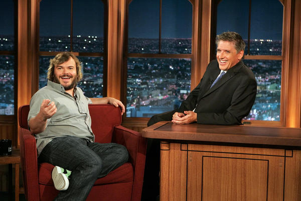 "Craig Ferguson, right, and Jack Black on ""The Late Late Show."""