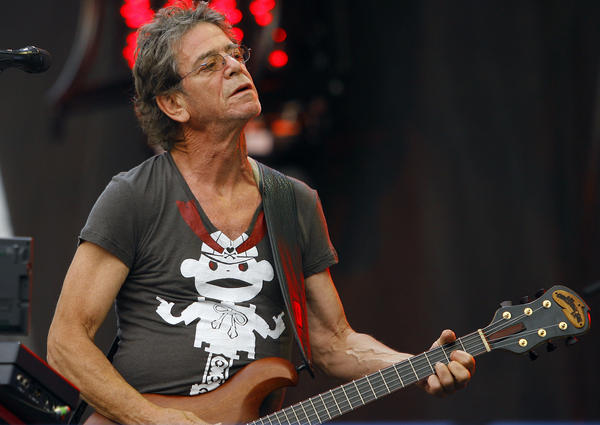 Lou Reed, seen performing at Lollapalooza in 2009, died Sunday. The influential New York rocker inspired countless musicians, including U2, Matthew Sweet and Cowboy Junkies.