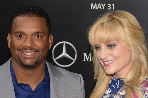 """Actor Alfonso Ribeiro and actress Angela Unkrich welcomed their first child together, the second for """"The Fresh Prince of Bel-Air"""" actor, on Sunday."""