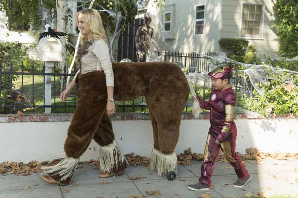 "Kate (Malin Akerman) takes Bert (Albert Tsai) trick-or-treating on ABC's ""Trophy Wife."""