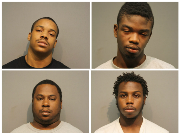 Chicago Police Department handout. Clockwise from upper left corner: Michael Jackson, Rashee Herron, Deonta Brown, Marcus Johnson.
