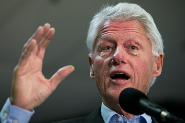 Former U.S. President Bill Clinton speaks during during a campaign event for Virginia gubernatorial candidate Terry McAuliffe at VFW Post 1503, Oct. 27 in Dale City, Virginia.