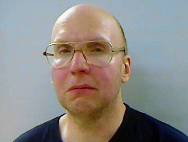 Kennebec County Jail booking photo of Maine hermit Christopher Knight