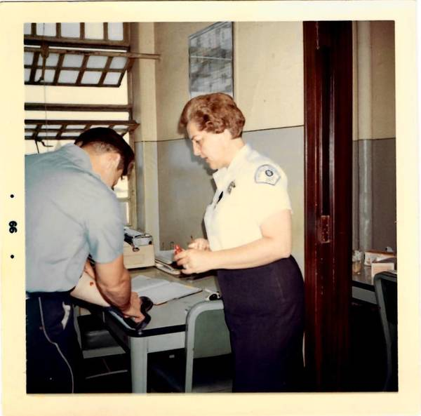 Rosaleen M. Beaudry at Chicago Police Department headquarters in 1966.