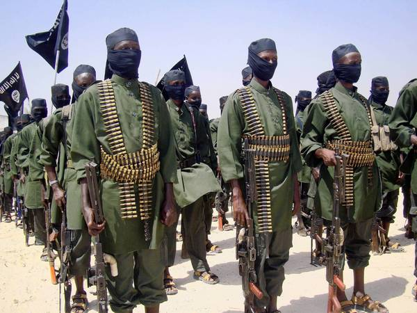 Shabab militants conduct exercises