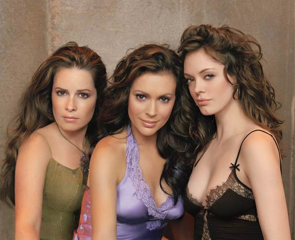 "From left, Holly Marie Combs, Alyssa Milano and Rose McGowan star in ""Charmed."""
