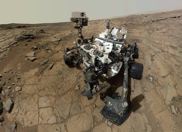 Self-portrait of NASA's Mars rover Curiosity.