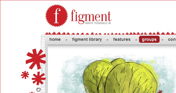 A screenshot of the Figment website, which has been acquired by Random House.