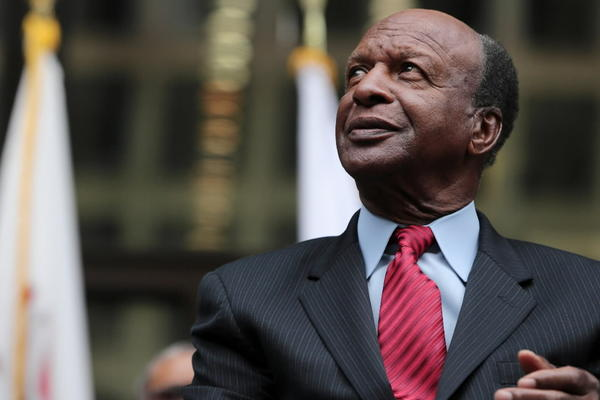 Illinois Secretary of State Jesse White, seen here last month, announced today that illegal immigrants can start applying for driver's licenses in December.
