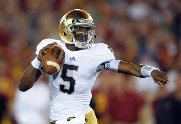 Notre Dame quarterback Everett Golson hopes to return to the team next season.