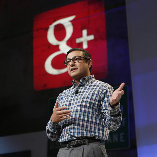 Senior Vice President of Engineering at Google Vic Gundotra speaks about updates to Google Plus during a Google event in San Francisco, Calif., October 29, 2013.