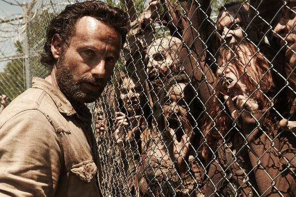 "Andrew Lincoln is Rick Grimes in ""The Walking Dead,"" which just got renewed for another season on AMC."