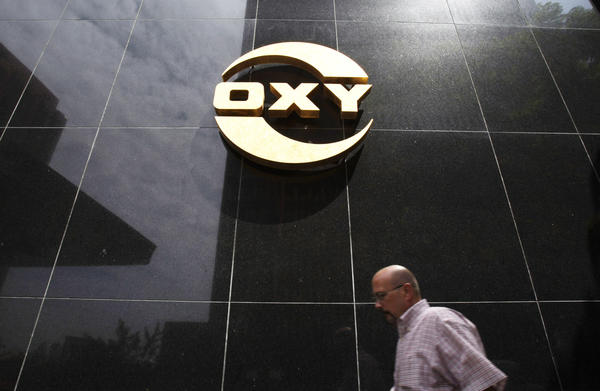 Occidental Petroleum said third-quarter earnings jumped by more than 14%.