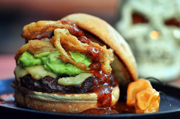 Sink your fangs into Jake Melnick's Halloween-themed burger.