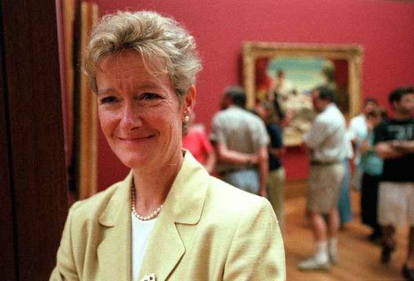 Deborah Gribbon at the Getty Museum in 2000.
