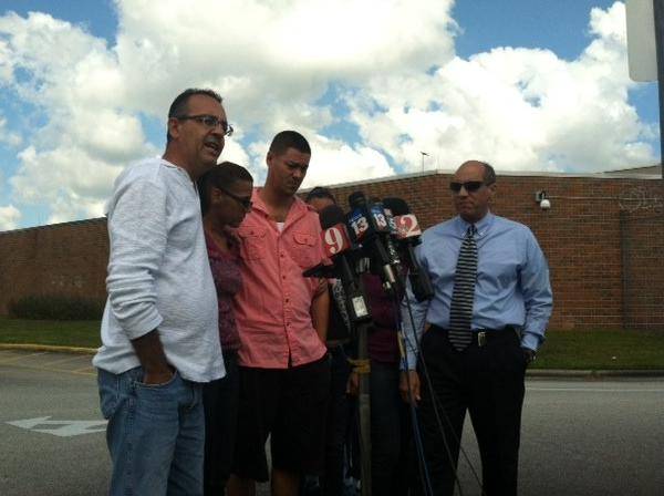 Yessenia Suarez's family speak to the media on Tuesday, October 29, 2013.