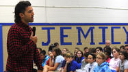 Paul Rabil speaks to Jemicy students about overcoming learning disability