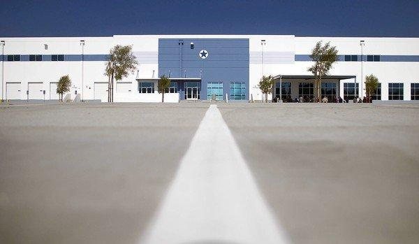 Amazon's fulfillment center in San Bernardino. The e-commerce giant plans to open another facility in nearby Moreno Valley.