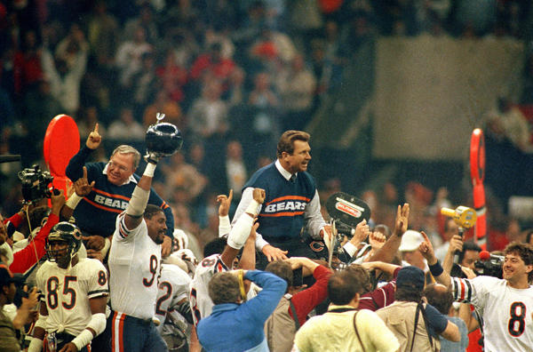 Former Bears coach Mike Ditka at the end of the well-documented 1985 season.