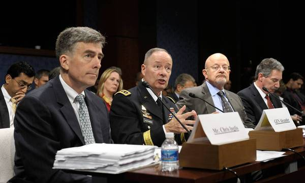 Chris Inglis, Keith Alexander, James Clapper, James Cole