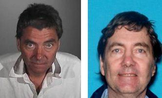 Dennis Michael McKenzie, 55, seen left in September and right in 2011, is suspected of cutting off his GPS tracking device and making threatening phone calls.
