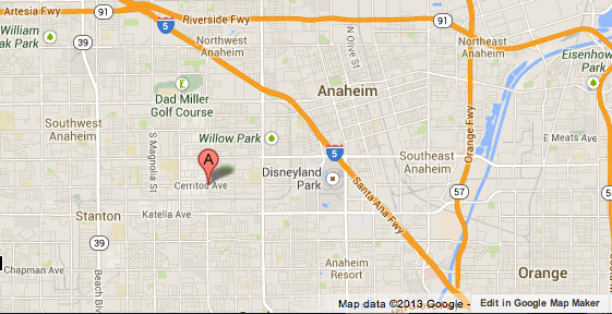 Map shows location where an Orange County Sheriff's Department deputy was dragged during a traffic stop.