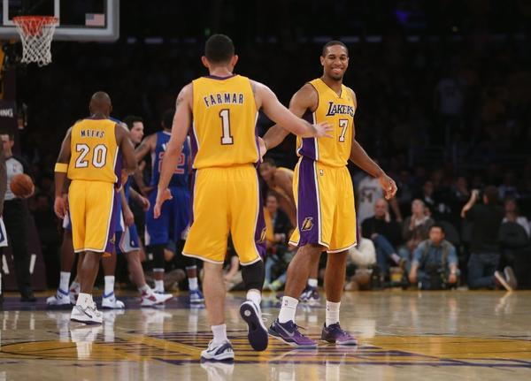 Jordan Farmar and Xavier Henry during the second half against the Clippers.