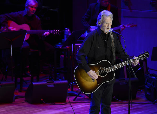 Kris Kristofferson, shown during a recent performance in Nashville, joined Johnny Cash biographer Robert Hilburn on Tuesday in Santa Monica to discuss the life and music of Cash and Roger Miller.