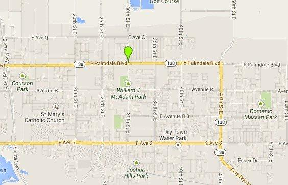 A map shows the location where a 16-year-old girl was struck and killed by an SUV on Monday.