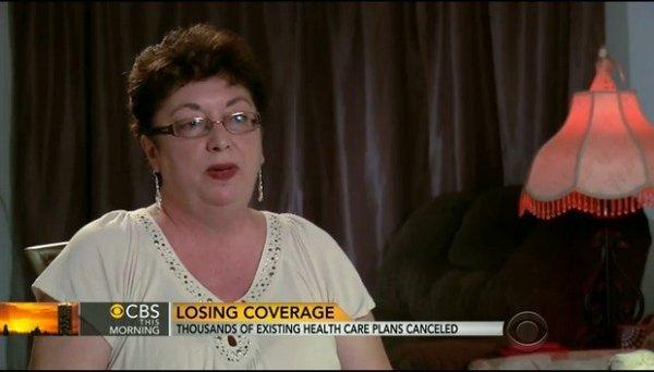Victimized by her insurer, and then by lousy news reporting? Diane Barrette, 56, of Winter Haven, Fla. seen here in a screenshot from a CBS news report broadcast this week.