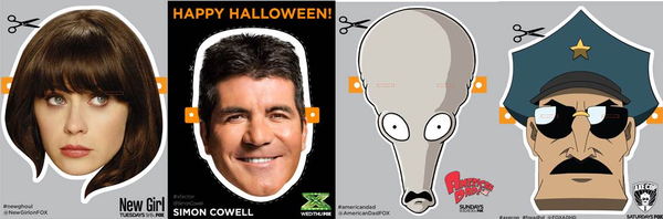 Download these Halloween masks at fox.com.
