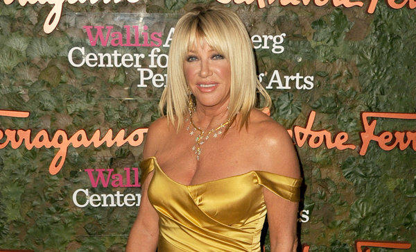 Actress Suzanne Somers is photographed at the Wallis Annenberg Center for the Performing Arts Gala on Oct. 17 in Beverly Hills.