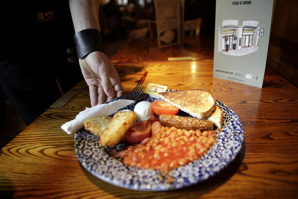 Jam, whatever the sugar content, doesn't figure large in the traditional full English cooked breakfast served throughout the British isles at pubs, hotels and B&Bs.