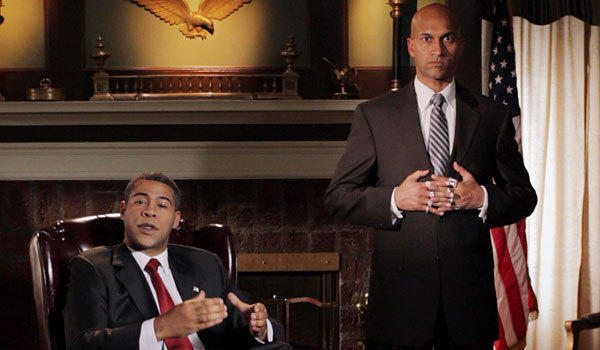 "Jordan Peele, left, and Keegan-Michael Key in a sketch from their series ""Key & Peele."""