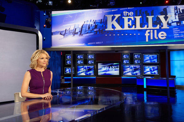"Fox News Channel's Megyn Kelly on her new set for ""The Kelly File."""