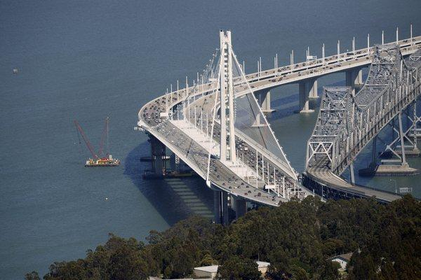 The $6.4-billion eastern span of the San Francisco-Oakland Bay Bridge, which opened in September.