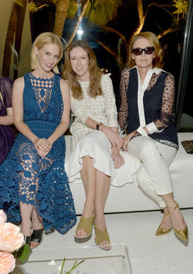 Actress January Jones, designer Clare Waight Keller and Senior West Coast Editor of Vogue Lisa Love attend the Chloe Los Angeles Fashion Show and Dinner on Tuesday.