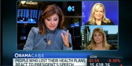 CNBC's Maria Bartiromo fails to walk the last mile with Deborah Cavallaro, lower right.