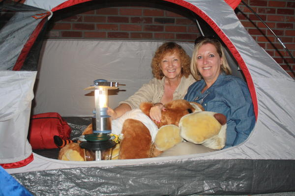 American Heritage School principals camp out on school roof as part of a fundraiser