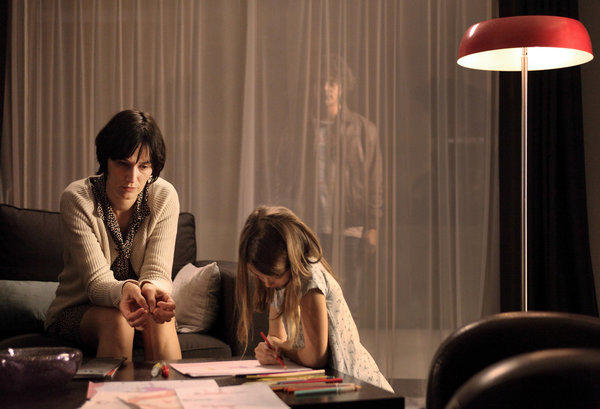 "Clotilde Hesme, left, Brune Martin and Pierre Perrier in a scene from ""The Returned."""