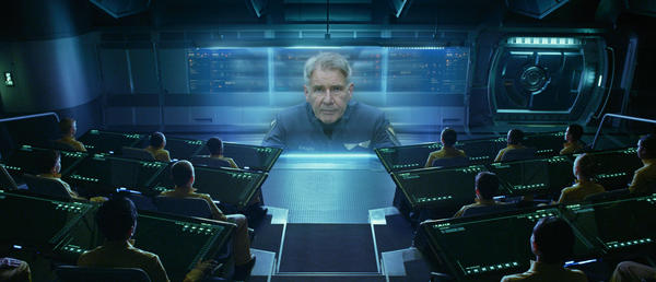 Harrison Ford stars in Ender's Game.